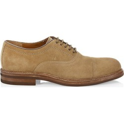 Brunello Cucinelli Men's Suede Lace-Up Dress Shoes - Cork - Size 46 (13) found on MODAPINS from Saks Fifth Avenue for USD $422.50