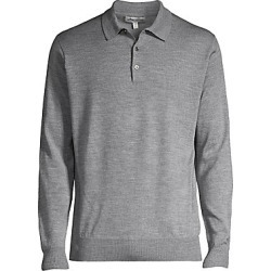 Peter Millar Women's Honeycomb Wool Silk Long-Sleeve Polo - British Grey - Size Medium found on Bargain Bro Philippines from Saks Fifth Avenue for $215.00