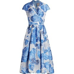 Lela Rose Women's Rose Fil Coupé Midi Dress - Cornflower - Size 16 found on MODAPINS from Saks Fifth Avenue for USD $686.99