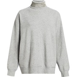 Alexander Wang Women's Oversized Crystal Turtleneck - Heather Grey - Size Large found on MODAPINS from LinkShare USA for USD $895.00