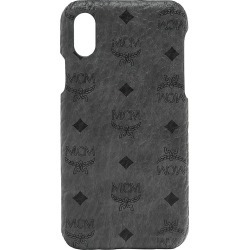 MCM Men's Stamped Logo Leather iPhone X Case - Grey found on Bargain Bro from Saks Fifth Avenue for USD $95.00