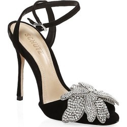 Ayanne Jeweled Suede Stilettos found on MODAPINS from Saks Fifth Avenue for USD $260.00