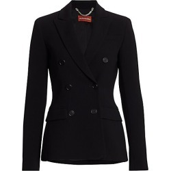 Altuzarra Indiana Crepe Jacket - Black - Size 38 (6) found on MODAPINS from Saks Fifth Avenue for USD $1595.00