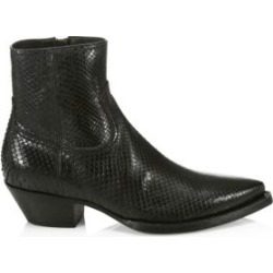 Lukas Python Leather Ankle Boots found on Bargain Bro from Saks Fifth Avenue UK for £1681