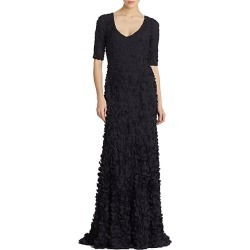 Theia Women's Petal Elbow-Sleeve Gown - Midnight - Size 4 found on MODAPINS from Saks Fifth Avenue for USD $347.05