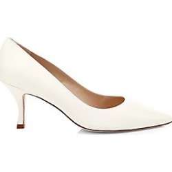 Stuart Weitzman Women's Tippi Leather Pointed Heels - Ivory - Size 9.5 found on Bargain Bro India from LinkShare USA for $398.00