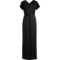 Aidan Mattox Women's Flutter-Sleeve V-Neck Jumpsuit - Black - Size 10 found on MODAPINS from Saks Fifth Avenue for USD $118.00
