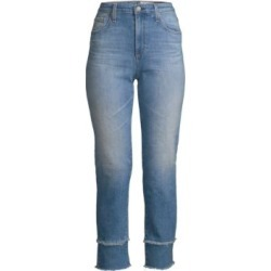Isabelle Mid-Rise Crop Straight-Leg Jeans found on Bargain Bro UK from Saks Fifth Avenue UK