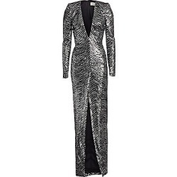Alexandre Vauthier Women's Sequin Zebra Print V-Neck Gown - Silver - Size 36 (4) found on MODAPINS from Saks Fifth Avenue for USD $5130.00
