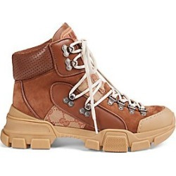Gucci Women's Leather & Original GG Trekking Boots - Tan - Size 40 (10) found on MODAPINS from Saks Fifth Avenue for USD $1250.00