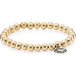 14K Yellow Gold, 14K White Gold & Diamond Starburst Medallion Bracelet