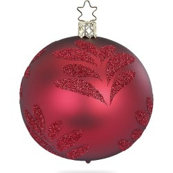 Inge's Christmas Decor Magic Leaf Glass Ball Ornament - Red found on Bargain Bro India from Saks Fifth Avenue for $18.00