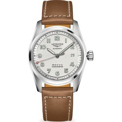 Longines Longines Spirit Automatic Stainless Steel Leather-Strap Watch - Silver found on MODAPINS from Saks Fifth Avenue for USD $2150.00