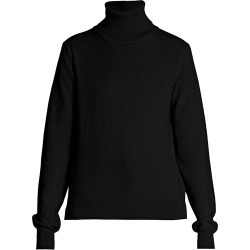 Maison Margiela Women's Logo Elbow-Patch Turtleneck Wool Sweater - Black - Size Small found on MODAPINS from Saks Fifth Avenue for USD $590.00