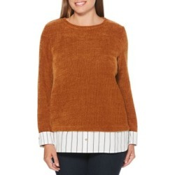 Mixed Media Knit Pullover found on Bargain Bro India from Lord & Taylor for $15.60