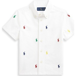 Ralph Lauren Little Boy's & Boy's Polo-Embroidered Short-Sleeve Shirt - White - Size 18 found on Bargain Bro India from Saks Fifth Avenue for $60.00