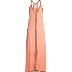 Pitusa Women's Deep V-Neck Maxi Sundress - Peach - Size Medium found on MODAPINS from Saks Fifth Avenue for USD $115.00