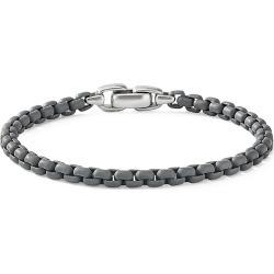 David Yurman Men's Chain Box-Link Bracelet - Grey - Size Medium found on MODAPINS from Saks Fifth Avenue for USD $395.00