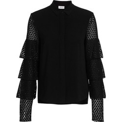 Tiered Lace-Sleeve Blouse found on Bargain Bro from Saks Fifth Avenue Canada for USD $222.78