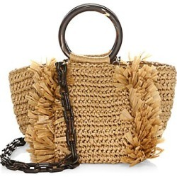 Carolina Santo Domingo Women's Corallina Ring Tote - Khaki found on MODAPINS from Saks Fifth Avenue for USD $575.00