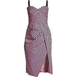 Milly Women's Alice Geo-Stripe Bustier Dress - Pink Black - Size 8 found on Bargain Bro India from LinkShare USA for $450.00