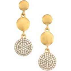 Signature 22K Yellow Goldplated & Cubic Zirconia Pavé Triple Drop Earrings found on Bargain Bro Philippines from Saks Fifth Avenue AU for $162.97