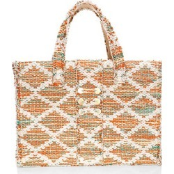 Kooreloo Women's Rhombus Knot Coin Book Tote - Orange found on MODAPINS from Saks Fifth Avenue for USD $247.50