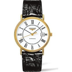 Longines Men's Presence Leather Strap Watch - Black White found on MODAPINS from Saks Fifth Avenue for USD $1300.00