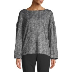 Scarlet Balloon-Sleeve Plaid Top found on Bargain Bro India from Lord & Taylor for $18.72