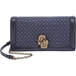 Knot Leather Convertible Clutch
