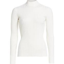 Bottega Veneta Women's Ribbed Wool-Blend Turtleneck Sweater - White - Size 44 (8) found on MODAPINS from Saks Fifth Avenue for USD $890.00