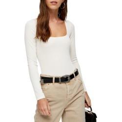Square Neck Long-Sleeve Bodysuit