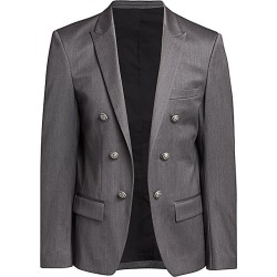 Balmain Men's Twill Wool-Blend Jacket - Grey - Size 48 (38) found on MODAPINS from Saks Fifth Avenue for USD $2295.00