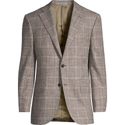 Corneliani Men's Leader Plaid Wool Sportcoat - Dk Brw Ck - Size 50 (40) R found on MODAPINS from Saks Fifth Avenue for USD $1155.00