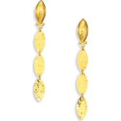 Gurhan Women's Willow 24K Yellow Gold & Sterling Silver Leaf Flake Linear Drop Earrings - Gold found on Bargain Bro Philippines from Saks Fifth Avenue for $1550.00