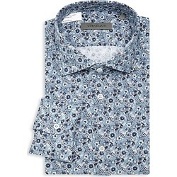 Corneliani Men's Cotton Dress Shirt - Blue - Size 43 (17) found on MODAPINS from Saks Fifth Avenue for USD $131.25