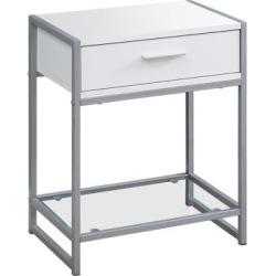 Table d'appoint grise et noire, 56 cm
