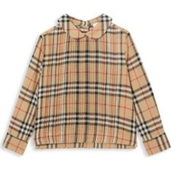 Little Girl's & Girl's Priscilla Pleated Check Tuxedo Blouse found on Bargain Bro UK from Saks Fifth Avenue UK