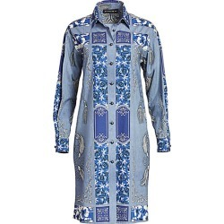 Etro Women's Bandana-Print Cotton Shirtdress - Blue - Size 40 (4) found on Bargain Bro India from Saks Fifth Avenue for $1280.00