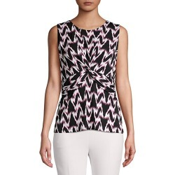 Knotted Front Sleeveless Top