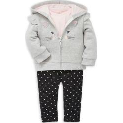 Baby Girl's 3-Piece Shirt, Hoodie & Leggings