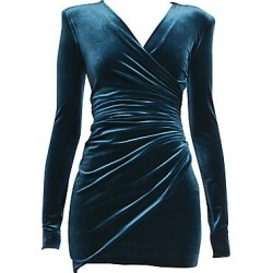 Alexandre Vauthier Women's Velvet Jersey Ruched Cocktail Dress - Cobalt - Size 40 (8) found on MODAPINS from Saks Fifth Avenue for USD $1485.00