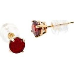 Boutons d'oreilles en or jaune 10 ct avec grenat de janvier
