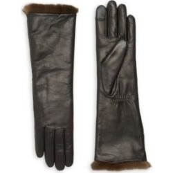 Carole Rabbit Fur-Lined Leather Gloves found on Bargain Bro India from Saks Fifth Avenue AU for $211.83