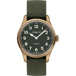 Montblanc Men's 1858 Automatic Limited Edition Bronzetone & Nato Strap Automatic Watch - Green