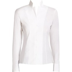 Akris Women's Stand Collar Poplin Blouse - White - Size 16 found on MODAPINS from Saks Fifth Avenue for USD $795.00