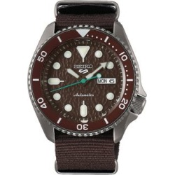 Sports Stainless Steel & Nylon-Strap Automatic Watch