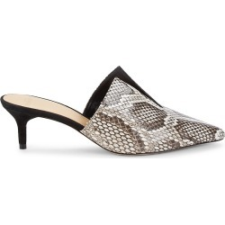 Alexandre Birman Women's Aurora Python Leather Mules - Natural Black - Size 35.5 (5.5) found on MODAPINS from Saks Fifth Avenue OFF 5TH for USD $349.99