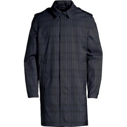 Corneliani Men's Point Collar Plaid Raincoat - Navy - Size 50 (40) R found on MODAPINS from Saks Fifth Avenue for USD $748.12