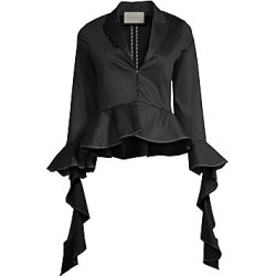 Alexis Women's Adella Ruffle Sleeve Peplum Top - Black - Size Small found on MODAPINS from Saks Fifth Avenue for USD $197.00